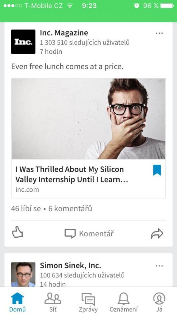 Linkedin záložky