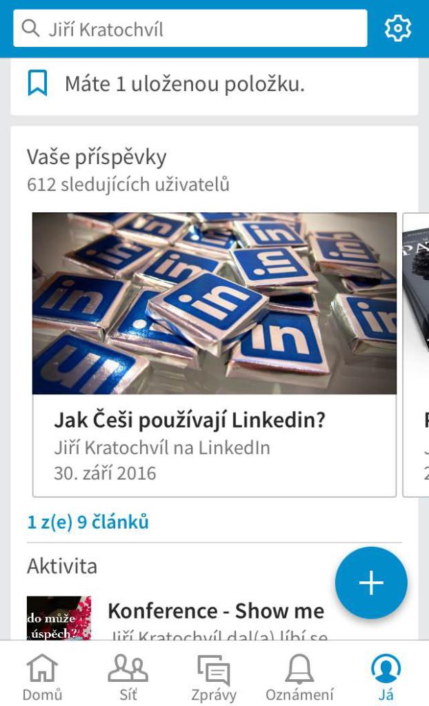 záložky na Linkedin