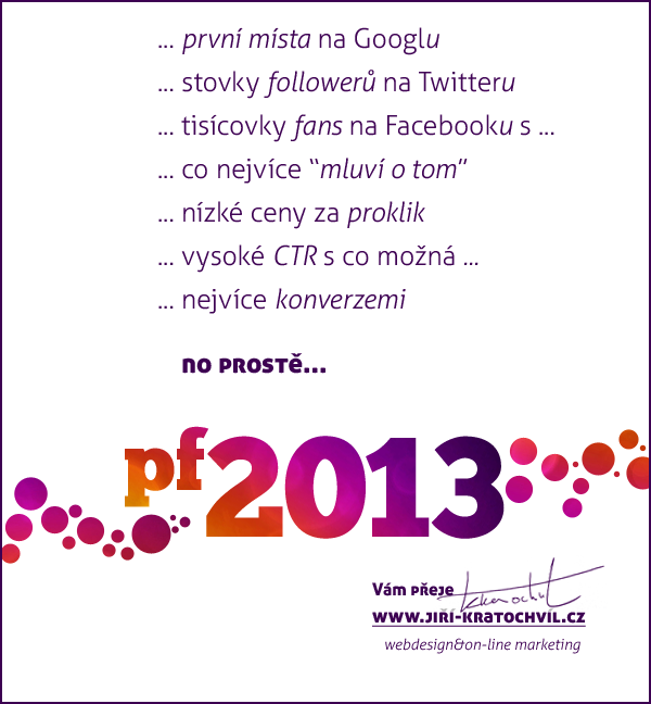 marketingové PF 2013