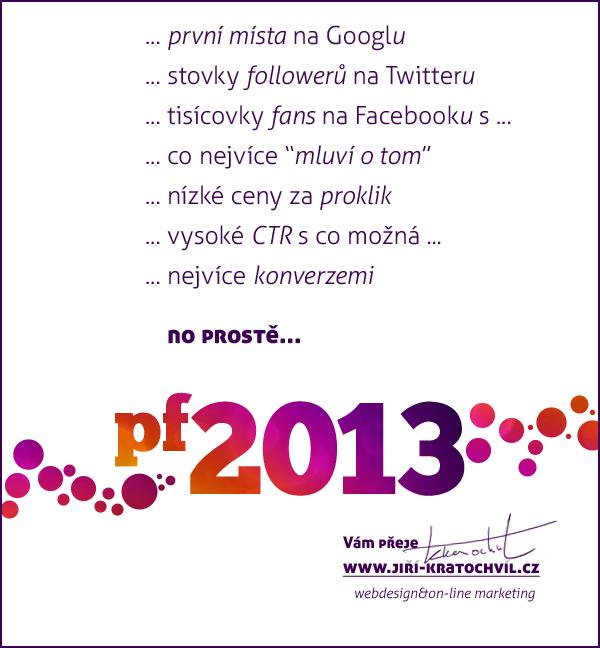 marketingové PF 2013